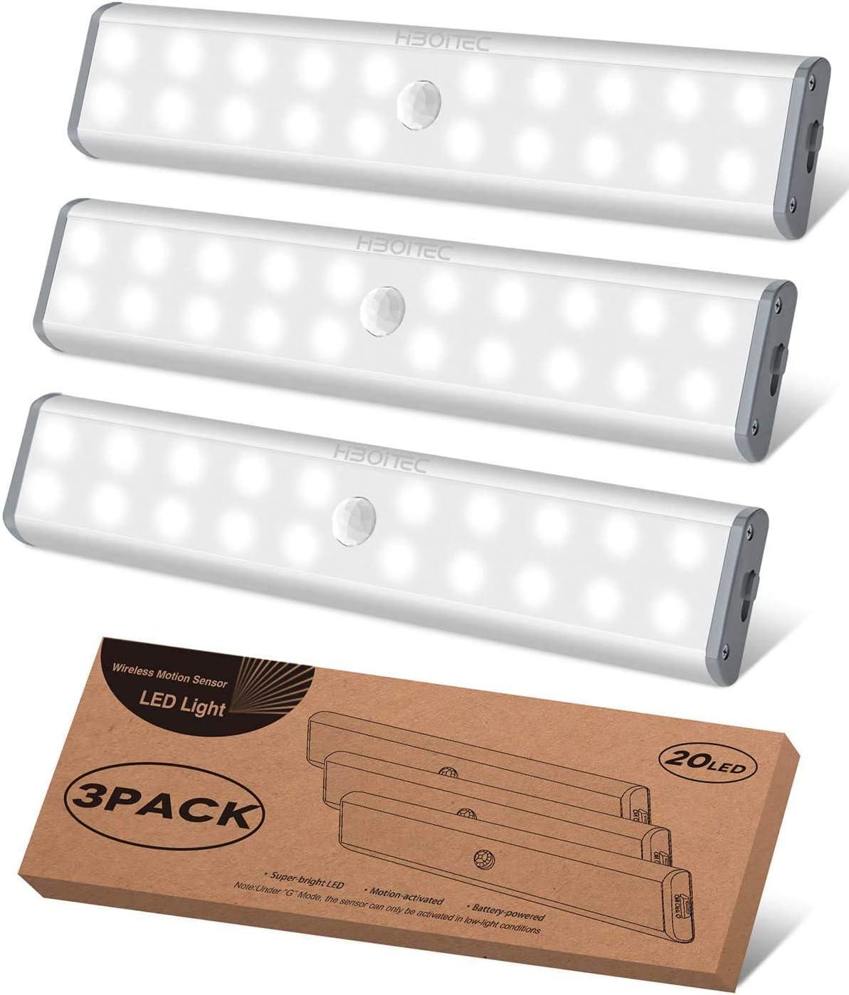 Luz Armario con Sensor de Movimiento Luz Sensor para Armario USB Recargable LED Armario Ideal para Armario Garaje Gabinete Escalera