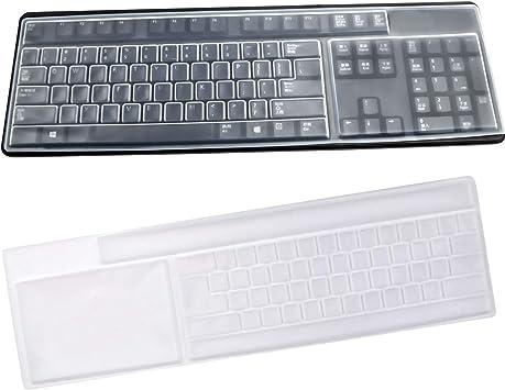 2pcs Teclado Protector Impermeable de Silicona Skins de Teclados Cubierta de Teclado para Computadora de Escritorio Ordenador Estándar