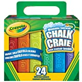 Crayola 24-Count Sidewalk Chalk,  Outdoor Activities, Washable, Bright, Colourful, Craft Supplies, Gift for Boys and Girls, Kids, Ages 3,4, 5, 6 and Up, Arts and Crafts