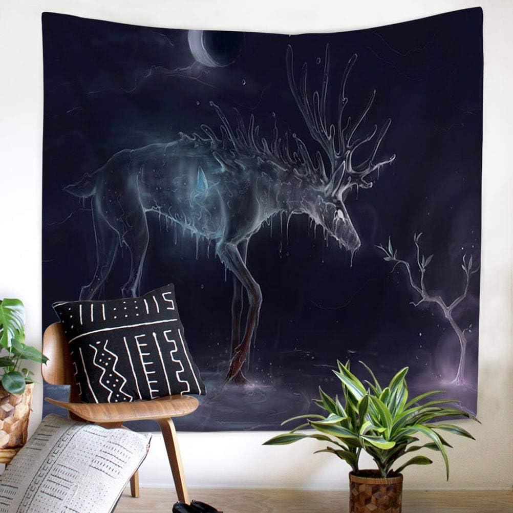 Cerf 1 100 Nunbee Tapisserie Wandbehang Mandala Tenture Hippie Etoile Elephant Tapisserie murales Indienne 3D Wall no/ël Tapestry Chambre d/étudiant D/écoratifs 75cm