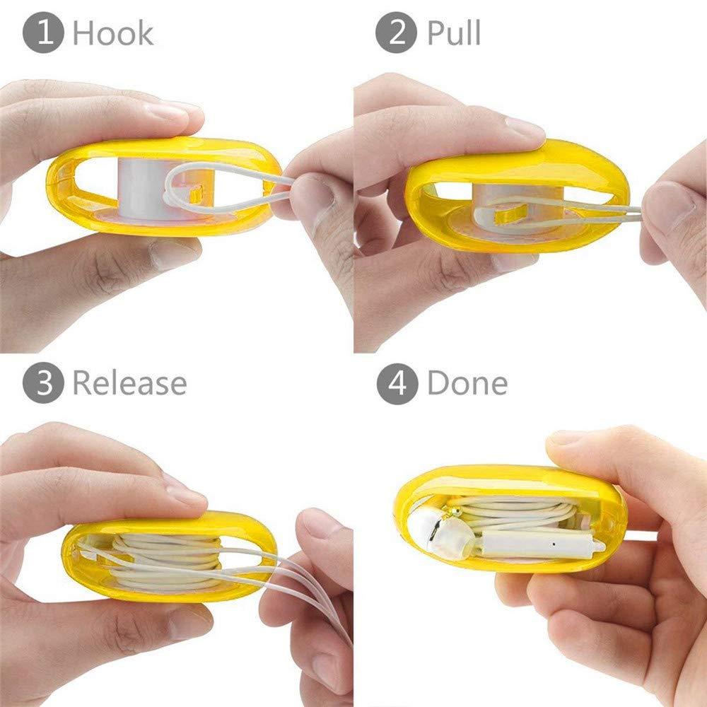 D TAOtTAO 2er Packung f/ür Hirundo Cord Tangle-Free Portable Manager-Kabelaufwicklung Automatischer Schrumpfkopfwickler