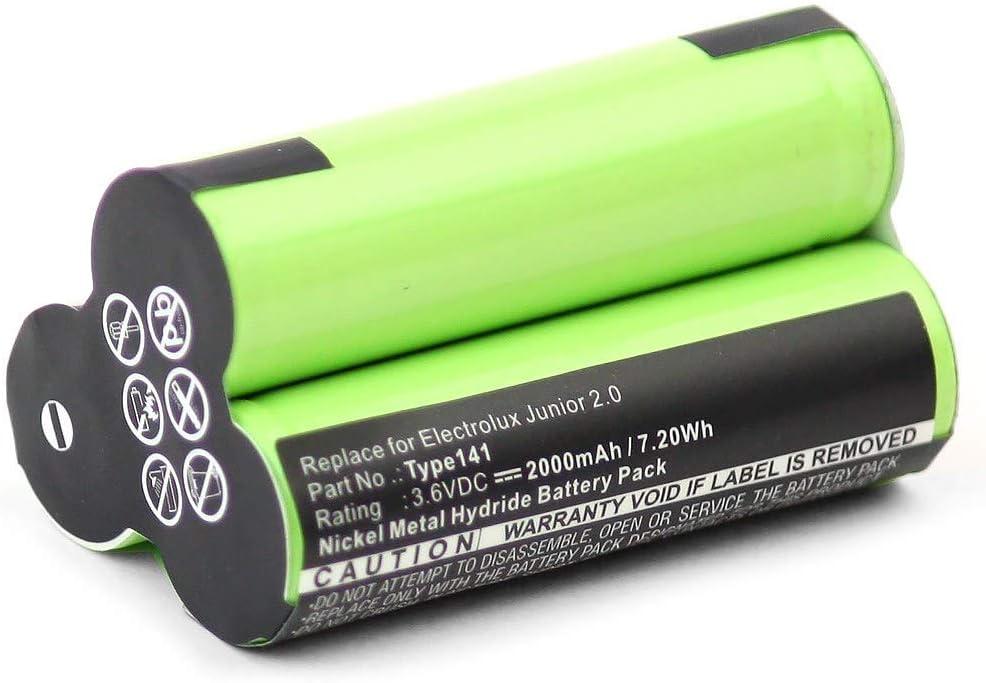 subtel® Batería Premium (3.6V, 2000mAh, NiMH) Compatible con AEG ...