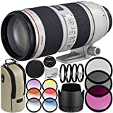 Canon EF 70-200mm f/2.8L IS II USM Lens 9PC Filter Kit - Includes 3PC Filter Kit + 4PC Closet Up Lens Set + 6PC Graduated Filter Kit + MORE - International Version (No Warranty)