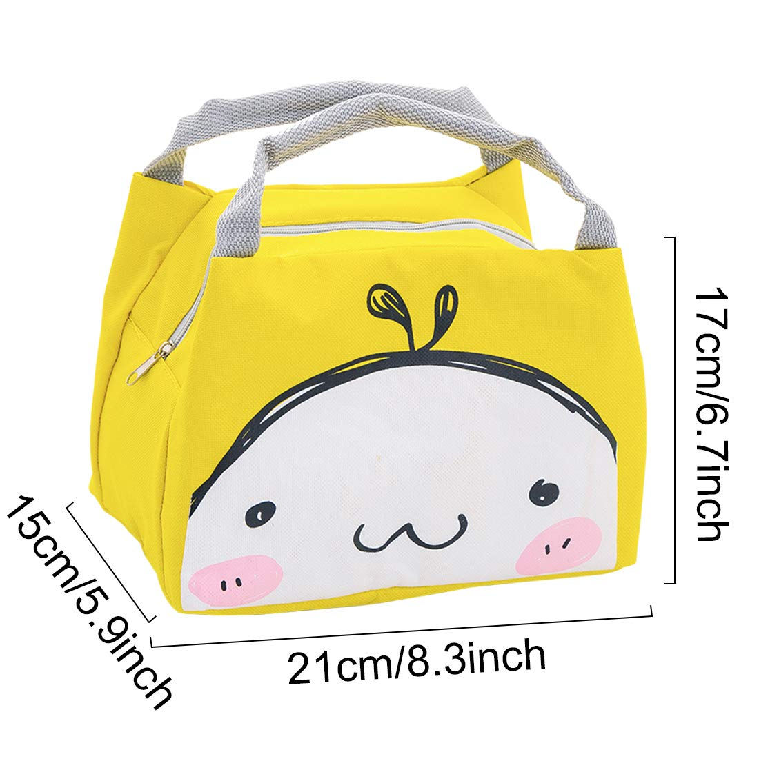 School and Picnic Oyachic Cute Thermal Lunch Bag Insulated Tote Leakproof Zipper Bag with Foil Liner for Office sheep CC-C60095-CN