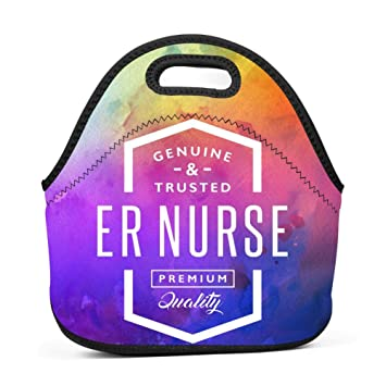 312c2c8bc7e3 Amazon.com: Lunch Bag Tote ER Nurse, Insulated Waterproof Reusable ...