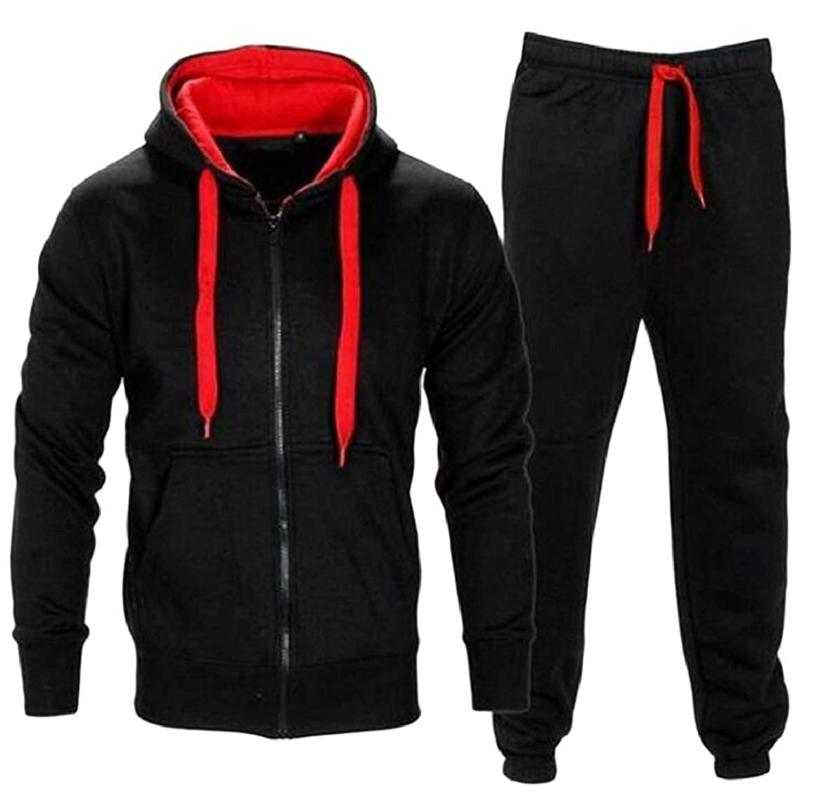 RG-CA Men Zipper Hoodie Sweatshirt Pants Sets Tracksuit Jogging Sweatsuit