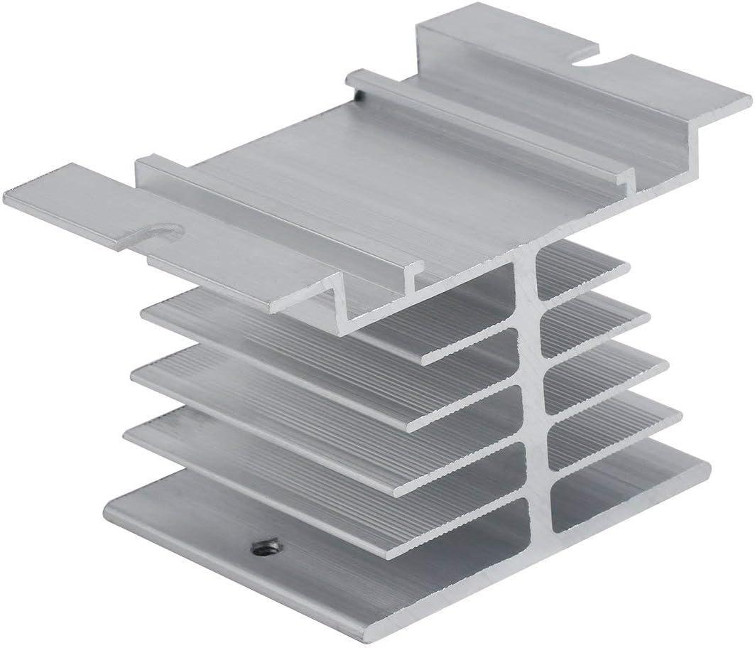 Momorain Dissipateur de Chaleur en Aluminium de Dissipation Thermique de Relais /à Semi-conducteurs de Haute qualit/é pour Le Type Dissipation Thermique de Relais /à /état Solide SSR