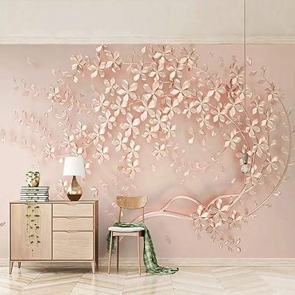 3d Wallpaper Wall Murals Stickers Decorations Rose Gold Flower