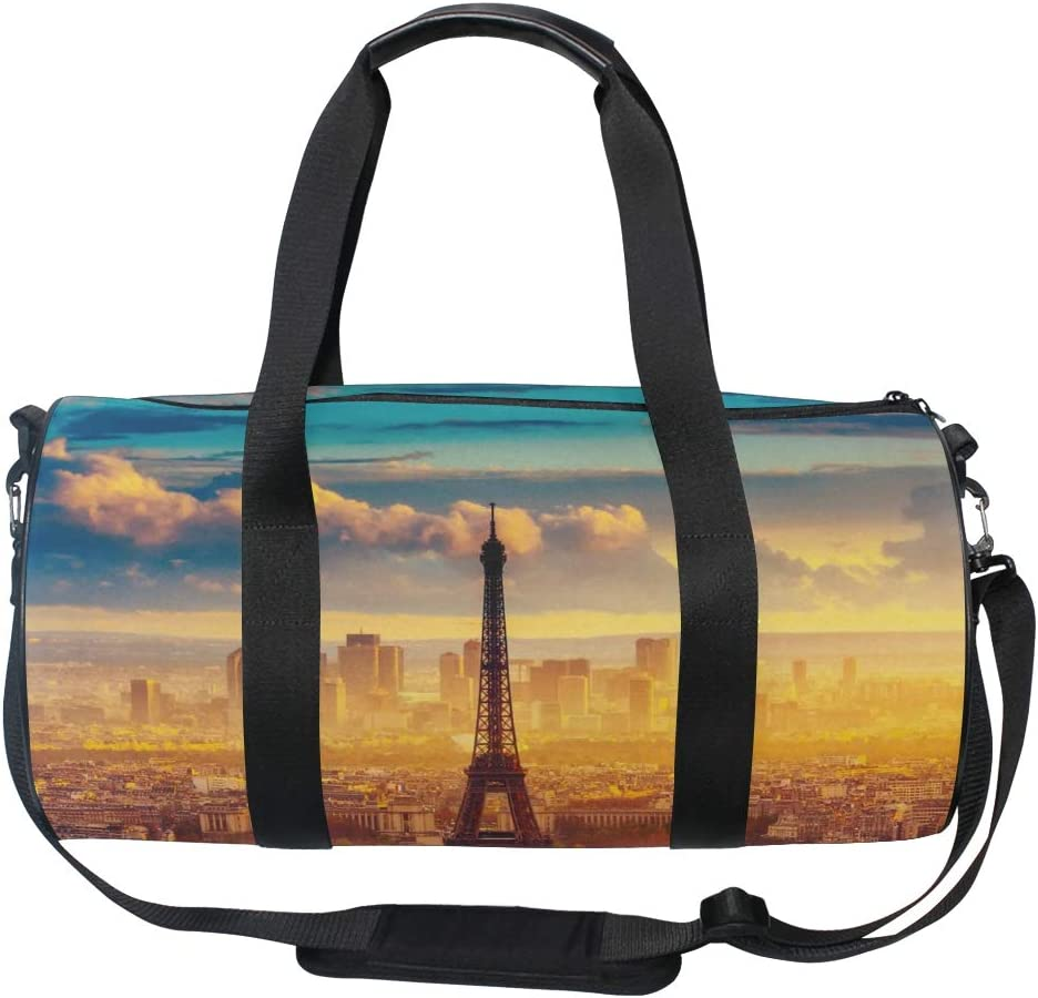 OuLian Duffel Bag Red Eiffel Women Garment Gym Tote Bag Best Sports Bag for Boys