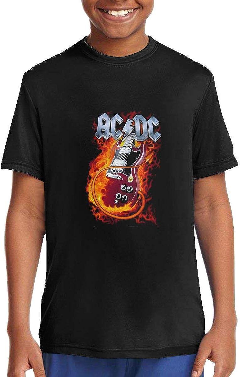MoiqhHUswss ACDC Children T Shirts Short Sleeve Tees Boys Girls