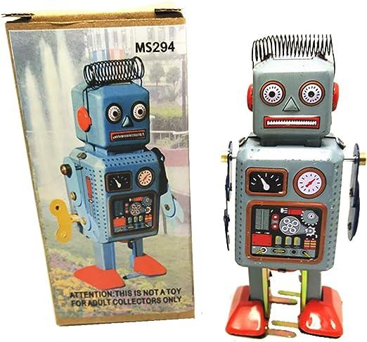 Amazon.es: HwaStudio MS294 Robot Juguete de la Lata de la Vendimia ...