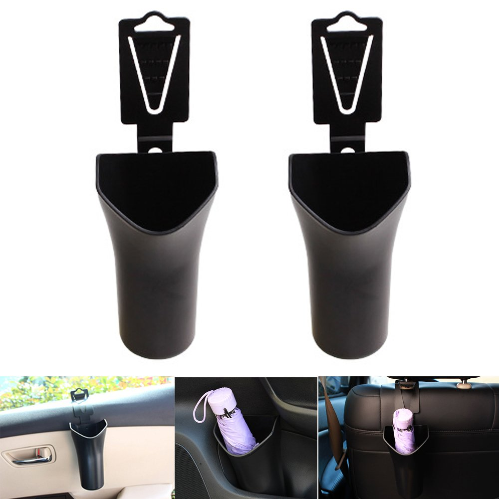 PME多機能車傘ホルダーストレージボックス、ゴミ箱BackseatヘッドレストHanging Organizer – ブラック PACK 2 AUMH19CN#2 PACK 2  B073GWP17W