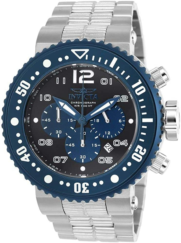 Invicta Men s Pro Diver Quartz Watch with Stainless-Steel Strap, Silver, 29.3 Model 25074