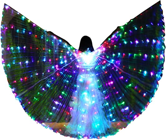 Adults Kids Women Girls Color Changing Butterfly Angel Fairy Wing Party Costume