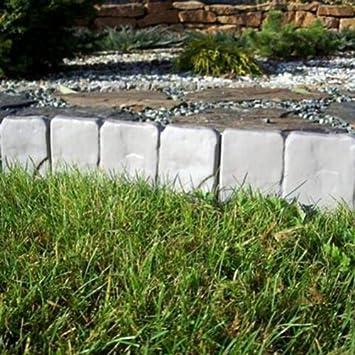 Bordillo Borde limitador para jardín plástico, resistente, 2, 5 m, color gris: Amazon.es: Jardín