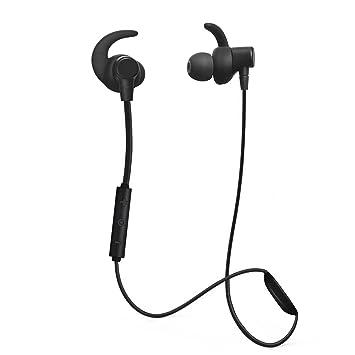 Auriculares Bluetooth, rapidtronic Runner auricular con micrófono auriculares deportivos con micrófono y cierre magnético a