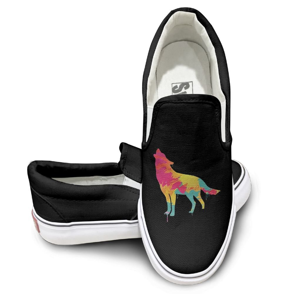 Mens Shoes Canvas Wolf Howling Inspiring Canvas Tennis Shoes For Women Canvas Wedges Shoes For Women