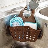 Porta spugna in plastica da appendere al lavandino o al lavello – portaoggetti sotto-lavabo per Bagno e Cucina, scaffale e sottolavabo.  Taglia libera Coffee