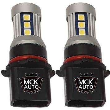 MCK Auto P13W LED Canbus Bombillas blancas de 600 lúmenes más fuertes en el mercado para su A4 B8 Q5 ASX Mirage Outlander: Amazon.es: Coche y moto