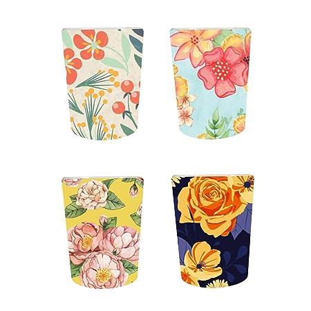YaYa Cafe™ Floral Flower Exquisite Decorative Pots Planter Indoor (Only Pots) Set of 4