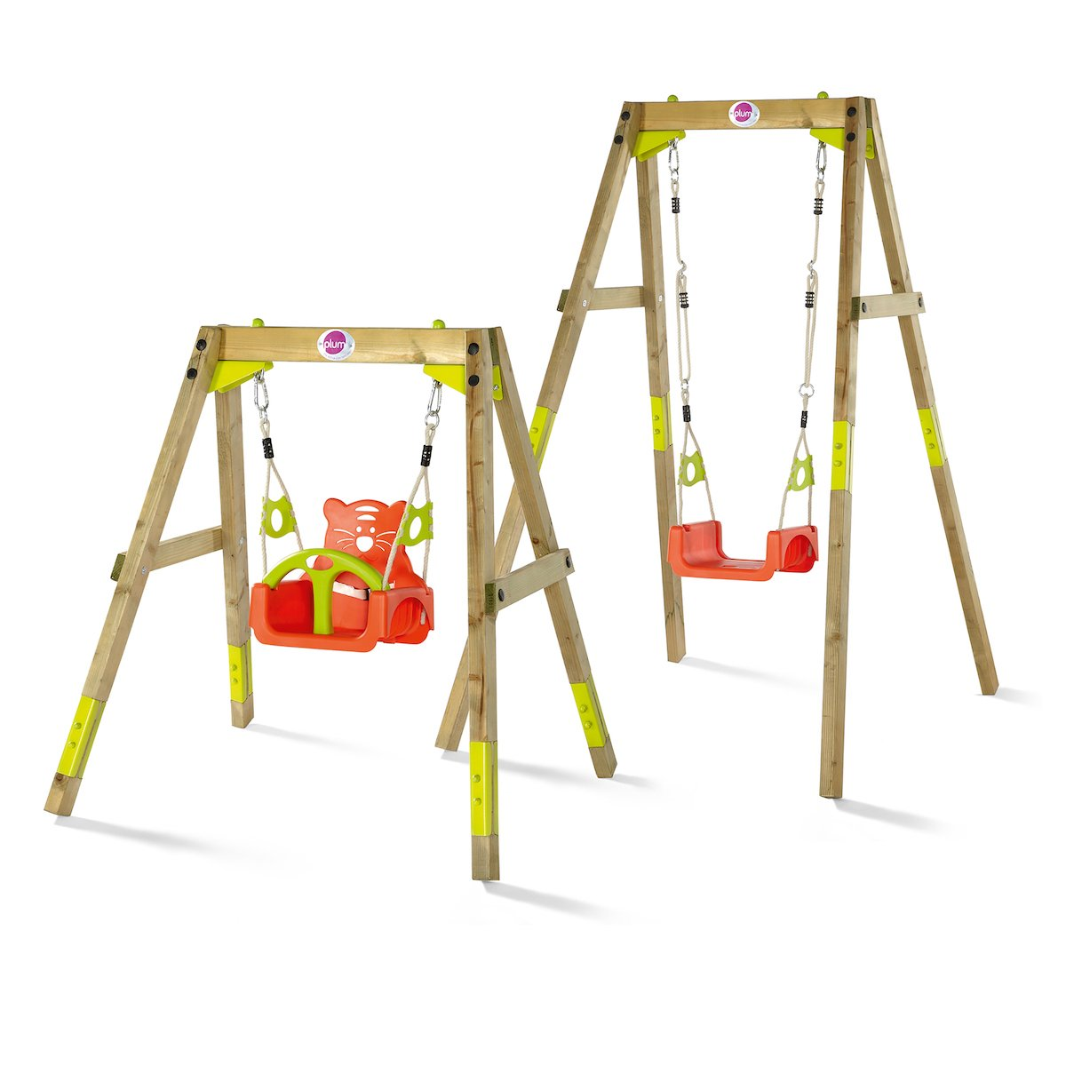 Plum wooden grow. swing set