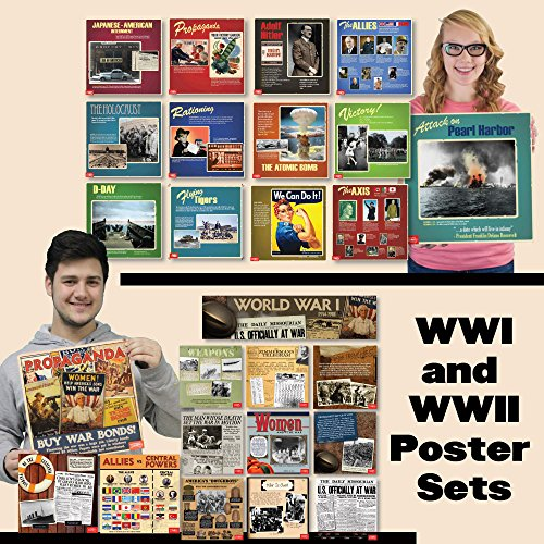 Wwi & WWII Mini-Poster Sets