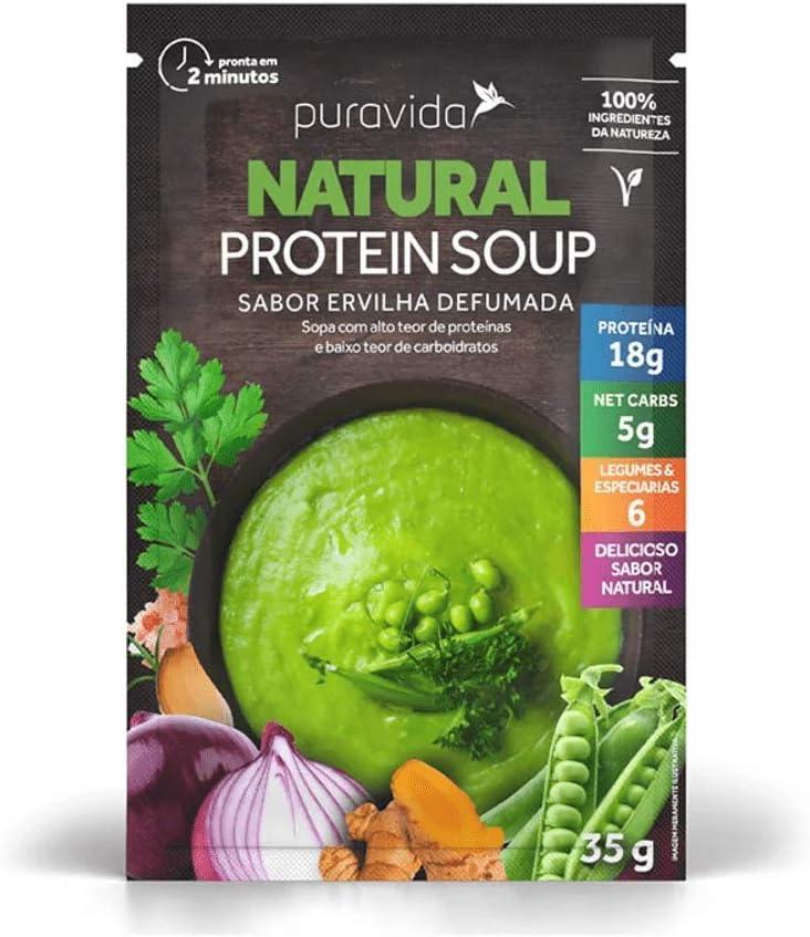 Sopa Protein Soup Ervilha Defumada PuraVida 35g por Puravida