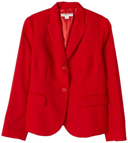 Pendleton Women's Petite Suit Jacket, Tartan Red Worsted, 4