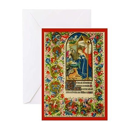 CafePress Tarjetas de Navidad con iluminación medieval (20 ...