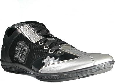 Bagatto Men's Dressy Leather Silver