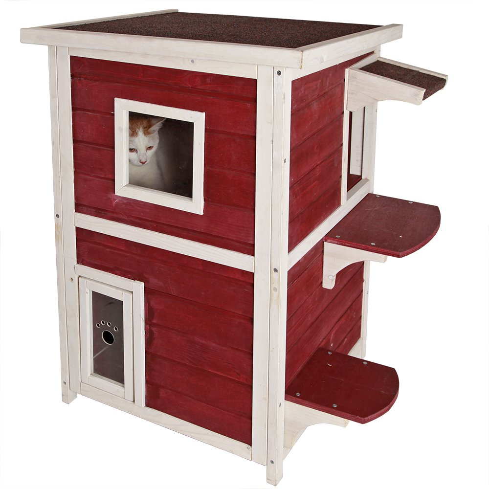 Cat Shelter,Cat House / Condo With Escape Door