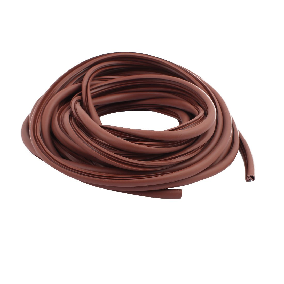 uxcell 8mm Width Rubber Door Window Glass Strip Seal Draught Excluder Brown 9M Length by uxcell