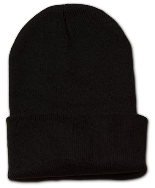 ef50cc628f7cb6 HNF_CTFL Plain Cuff Beanie Knit Ski Cap Skull Warm Solid Color Winter Blank  Beany (Black