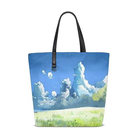Amazon.com | Miyazaki Wallpapers Tote Bag Purse Handbag ...