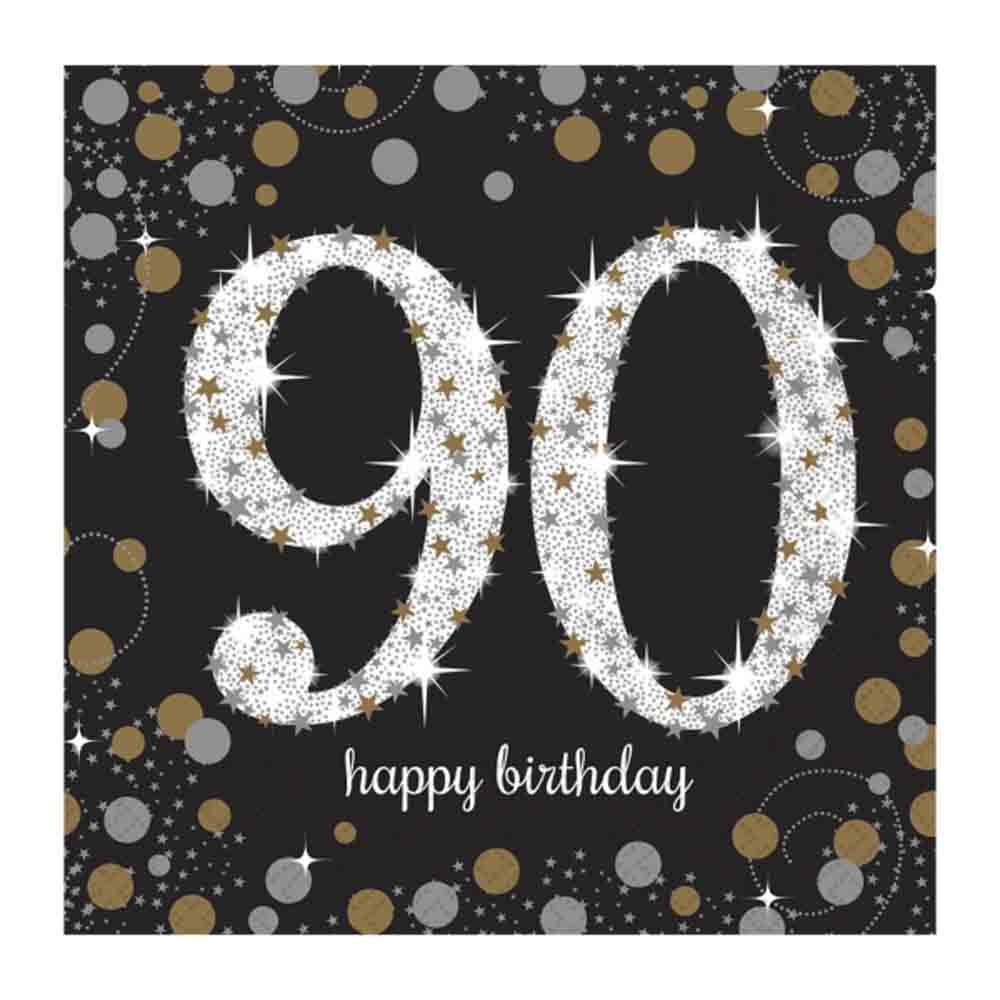 90th Birthday Party Paper Napkins | Age 90 Party Supplies … … amscan