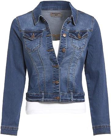 veste en jean extensible femme