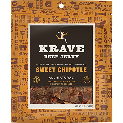 Krave Jerky - All Natural Beef Jerky Sweet Chipotle