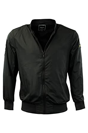 Mens Brave Soul 'Sanjay' Jacket Shower Proof Rain Mac Bomber Coat  Lightweight