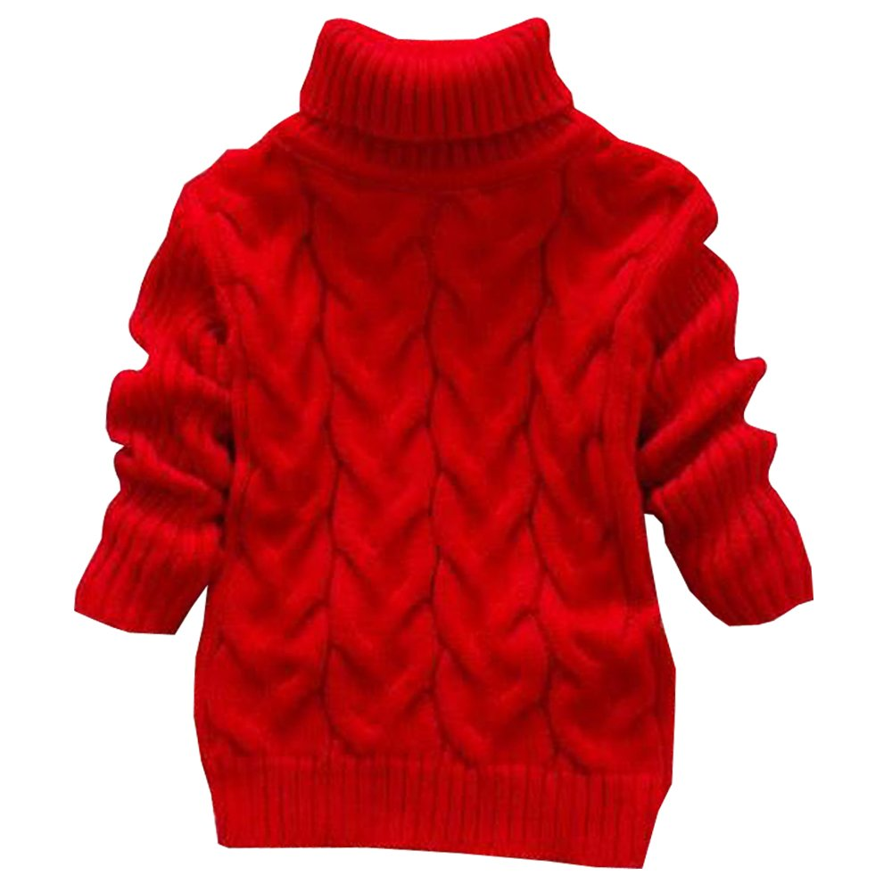 BOZEVON Kids Girls Boy Long Sleeve Turtleneck Sweater Toddlers Tops Clothes