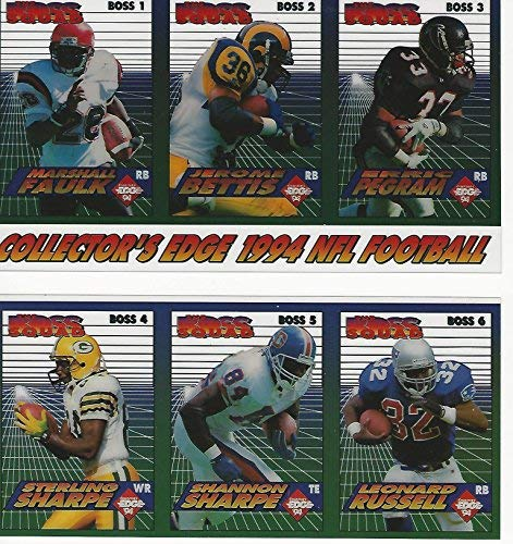 2-1994 Collector's Edge Uncut Faulk Bettis Pegram Sharpe Brothers Promo Sheets ()