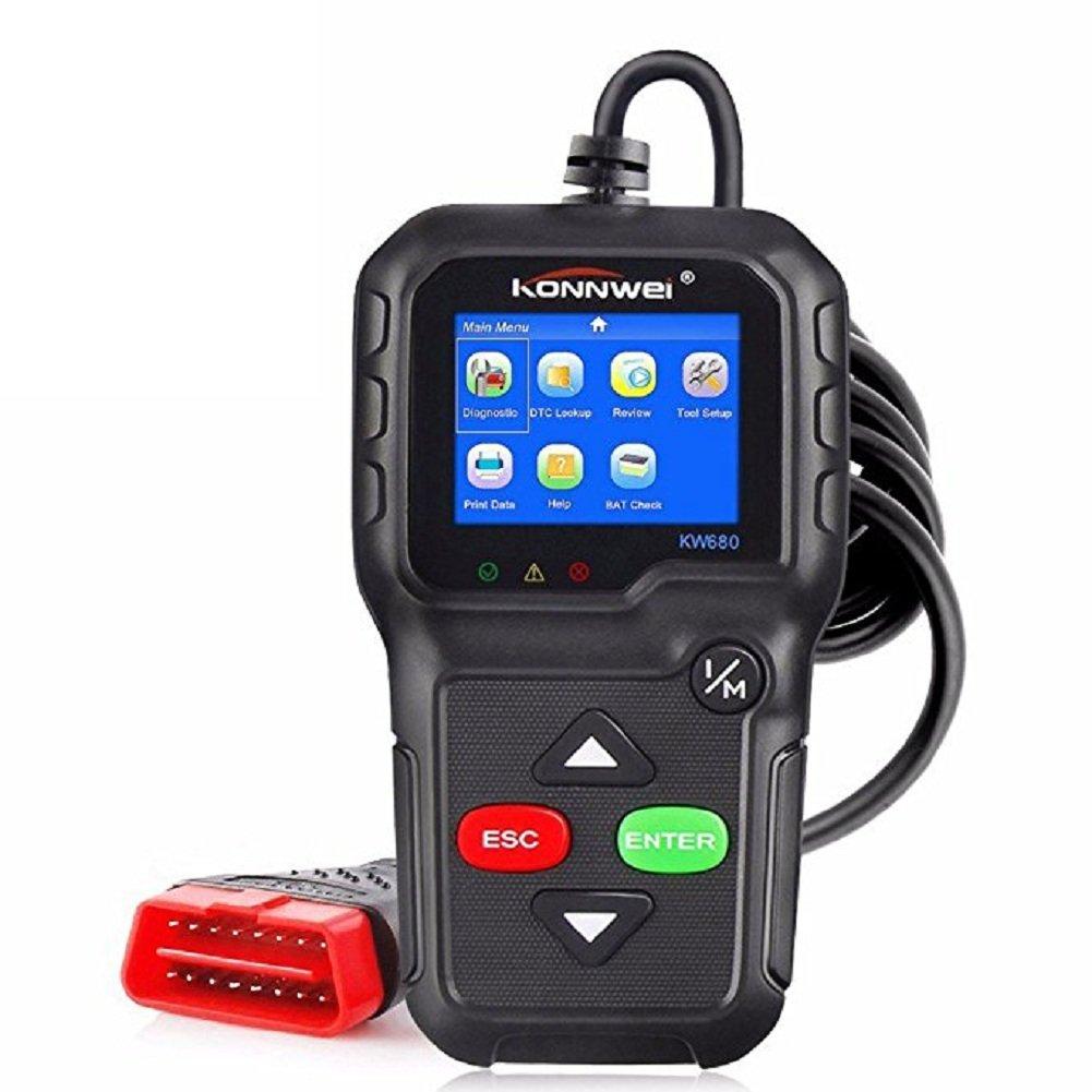 OBD2 Automotive Diagnostic Scanner for Gas Diesel Car Automotive Analyzer Scan Tool Support Multi-languages Autoscanner KW680