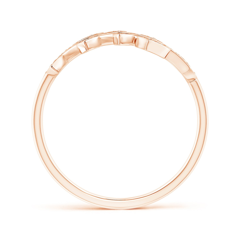 Angara Pave Set Diamond Olive Leaf Vine Ring wXPznR