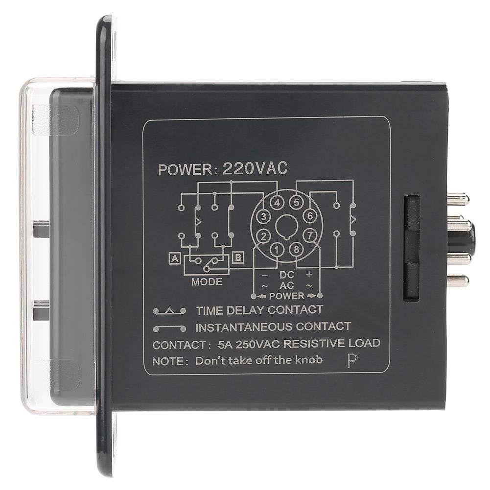 220VAC relais temporisateur LCD num/érique ASY-3D Relais temporis/é Relais temporisateur 0-999M Relais temporis/é