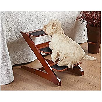 Amazon Com Pet Studio Pine Frame Dog Rampsteps 3 Step