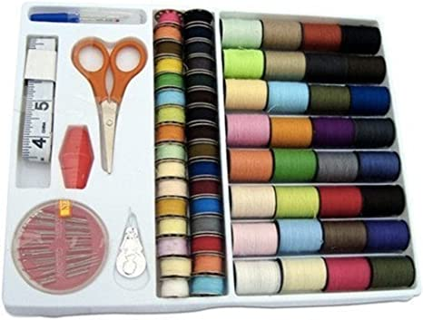 Spools Rainbow 100-in-1 Essential Polyester Sewing Tools Thread Box Kit Needlework Box Set for Domestic Sewing Machine Sewing Kit Thread Needle Tape Scissor Thimble Set Quilting Stitching//hand Sewing//machine Sewing 1