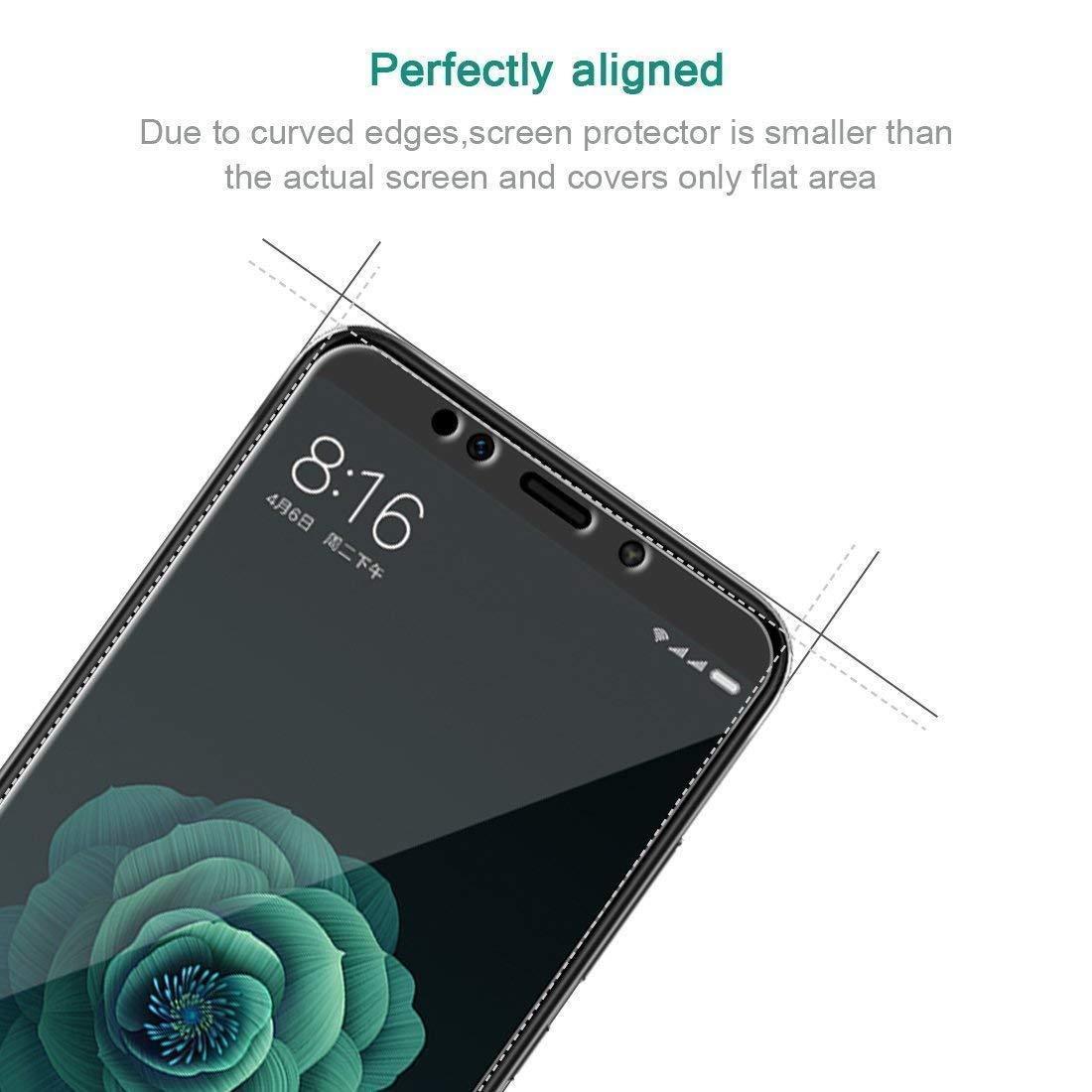 Protector de Pantalla para Xiaomi Mi A2,Cristal Templado para Xiaomi Mi A2 9H Dureza,Alta Definicion,Sin Burbujas 3 Unidades Transparente iDolix