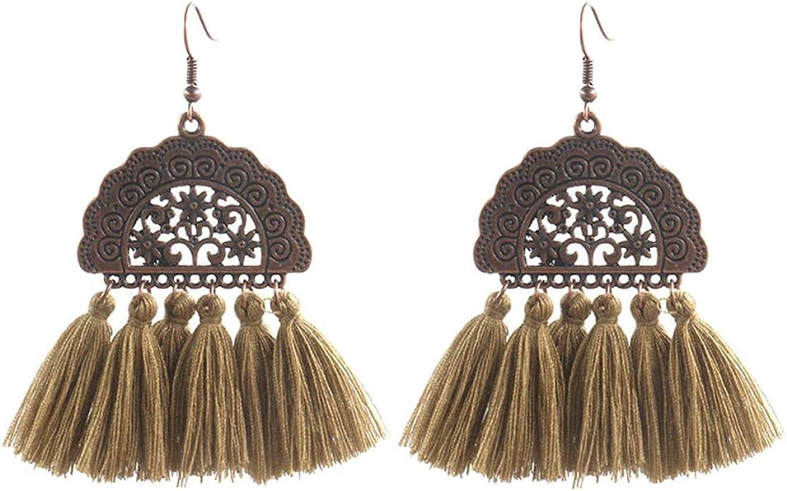 shengyuze Women Fashion Thread Tassel Pendant Statement Dangle Drop Earrings Jewelry Gift for Ladies Girls
