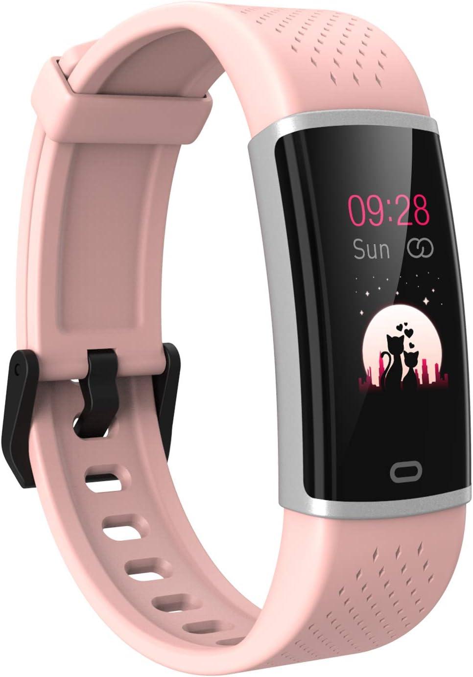 Fitpolo Fitness Tracker Pulsera de Actividad Inteligente Impermeable Paso Frecuencia cardíaca Contador de calorías Monitor de sueño Podómetro Reloj Inteligente para Mujeres Hombres Niños …
