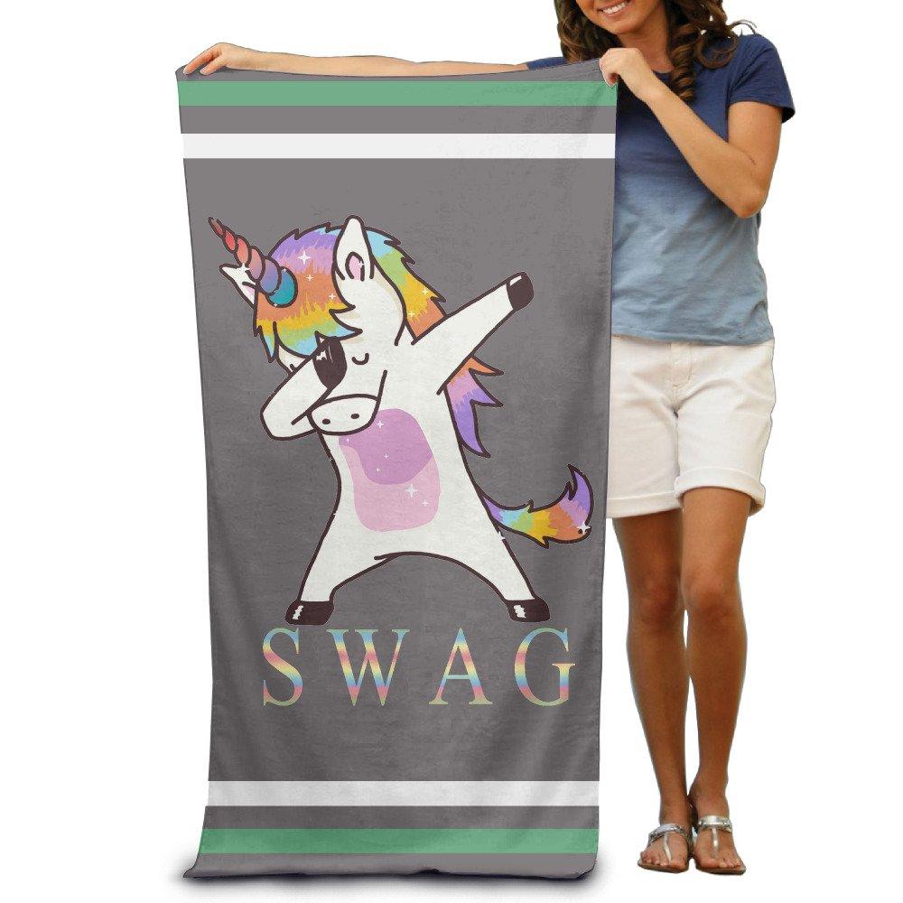 SWAG Tamponnant Licorne Serviettes de bain Serviette de plage Piscine Serviettes adultes doux et absorbant Wolopo Towel