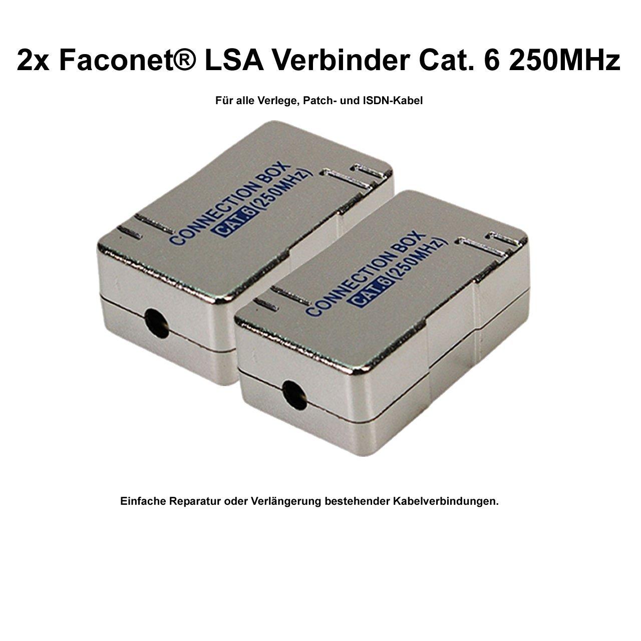 2x Faconet® LSA Verbinder Cat.6 zum Verbinden: Amazon.de: Computer ...